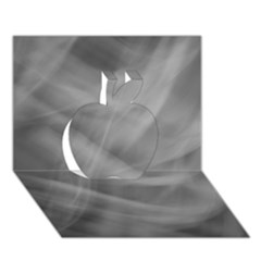 Gray Fog Apple 3d Greeting Card (7x5)  by timelessartoncanvas