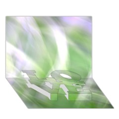Green And Purple Fog Love Bottom 3d Greeting Card (7x5)  by timelessartoncanvas