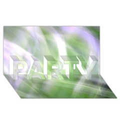 Green And Purple Fog Party 3d Greeting Card (8x4)