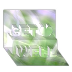 Green And Purple Fog Get Well 3d Greeting Card (7x5)