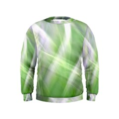 Green And Purple Fog Kids  Sweatshirt