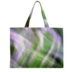 Green And Purple Fog Zipper Mini Tote Bag