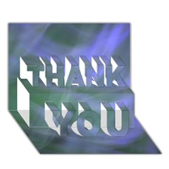Purple Fog Thank You 3d Greeting Card (7x5)