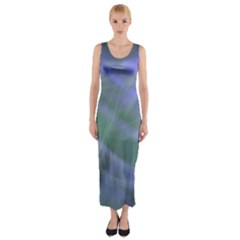 Purple Fog Fitted Maxi Dress by timelessartoncanvas