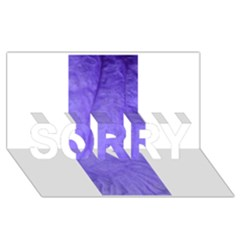 Purple Modern Leaf Sorry 3d Greeting Card (8x4)