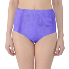 Purple Modern Leaf High-Waist Bikini Bottoms by timelessartoncanvas