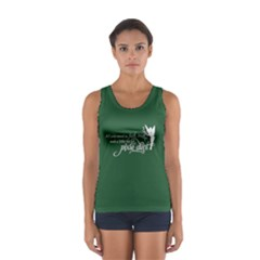 Faith, Trust, And A Little Pixie Dust In Pine Green Tank Top  by GalaxySpirit