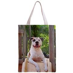 Pit Bull T Bone s Tree House Zipper Classic Tote Bag by ButThePitBull