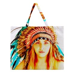 Indian 29 Zipper Large Tote Bag