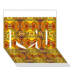 Roof555 I Love You 3d Greeting Card (7x5)