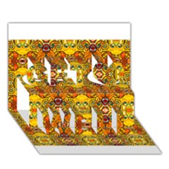 Roof555 Get Well 3d Greeting Card (7x5)