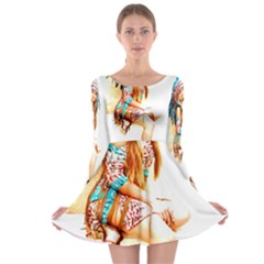 Indian 18 Long Sleeve Skater Dress by indianwarrior
