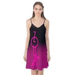 Zouk Pink/purple Camis Nightgown