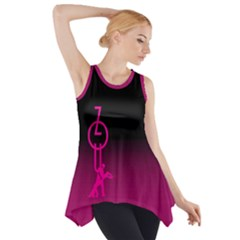 Zouk   Forget The Time Side Drop Tank Tunic