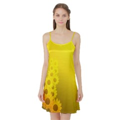 Sunflower Satin Night Slip