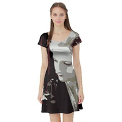 Geisha Short Sleeve Skater Dresses
