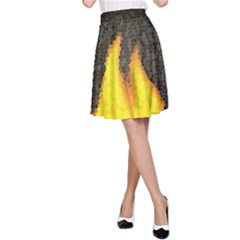 Dark Fire A Line Skirt