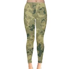 Greencamouflage Winter Leggings  by LetsDanceHaveFun