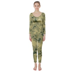 Greencamouflage Long Sleeve Catsuit