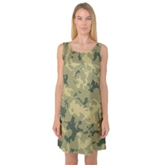Greencamouflage Sleeveless Satin Nightdresses