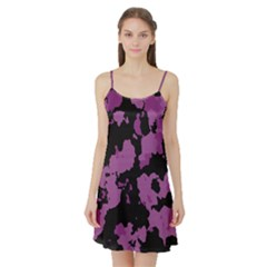 Pink Camouflage Satin Night Slip
