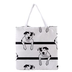 Pit Bull T Bone Graphic  Grocery Tote Bag