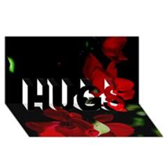 Roses 1 Hugs 3d Greeting Card (8x4)