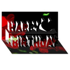 Roses 2 Happy Birthday 3d Greeting Card (8x4)  by timelessartoncanvas
