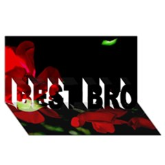 Roses 2 Best Bro 3d Greeting Card (8x4)  by timelessartoncanvas
