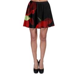 Roses 2 Skater Skirt by timelessartoncanvas