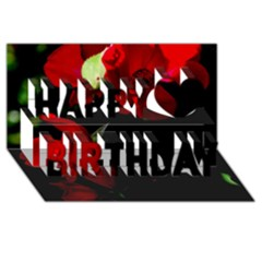 Roses 4 Happy Birthday 3d Greeting Card (8x4)  by timelessartoncanvas