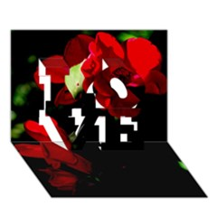 Roses 4 Love 3d Greeting Card (7x5)  by timelessartoncanvas