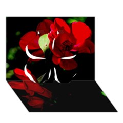 Roses 4 Clover 3d Greeting Card (7x5)  by timelessartoncanvas