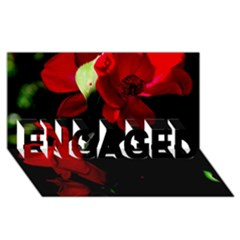 Roses 4 Engaged 3d Greeting Card (8x4)