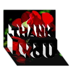 Roses 4 Thank You 3d Greeting Card (7x5)  by timelessartoncanvas