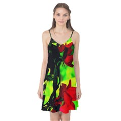 Red Roses And Bright Green 1 Camis Nightgown by timelessartoncanvas