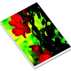 Red Roses And Bright Green 3 Large Memo Pads by timelessartoncanvas