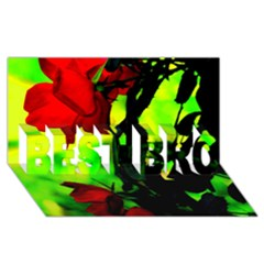Red Roses and Bright Green 3 BEST BRO 3D Greeting Card (8x4)  by timelessartoncanvas