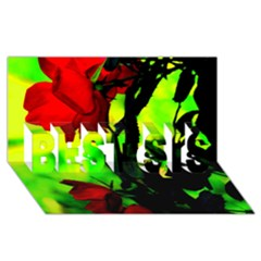 Red Roses And Bright Green 3 Best Sis 3d Greeting Card (8x4)  by timelessartoncanvas