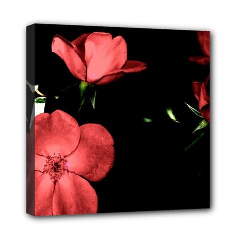 Mauve Roses 2 Mini Canvas 8  X 8  by timelessartoncanvas