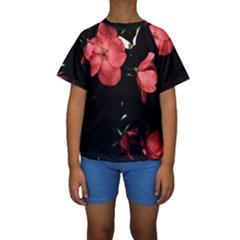 Mauve Roses 4 Kid s Short Sleeve Swimwear by timelessartoncanvas
