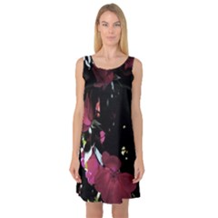 Mauve Pink Roses Sleeveless Satin Nightdress by timelessartoncanvas