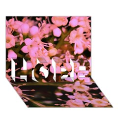 Little Mauve Flowers Hope 3d Greeting Card (7x5)  by timelessartoncanvas