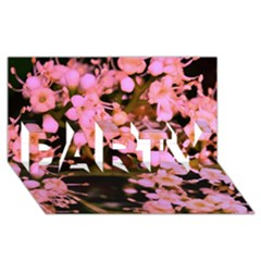 Little Mauve Flowers Party 3d Greeting Card (8x4)