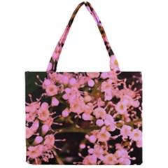 Little Mauve Flowers Mini Tote Bag by timelessartoncanvas