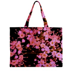 Little Mauve Flowers Zipper Mini Tote Bag by timelessartoncanvas