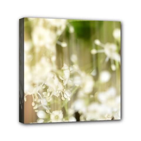 Little White Flowers Mini Canvas 6  X 6  by timelessartoncanvas