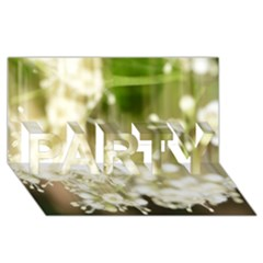 Little White Flowers Party 3d Greeting Card (8x4)  by timelessartoncanvas