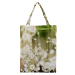 Little White Flowers Classic Tote Bag by timelessartoncanvas