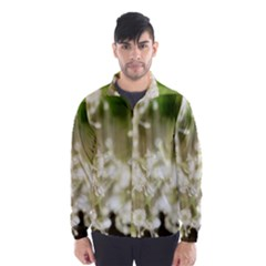 Little White Flowers Wind Breaker (men) by timelessartoncanvas